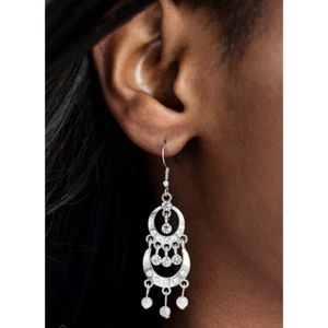 Paparazzi - White - Earrings - #222